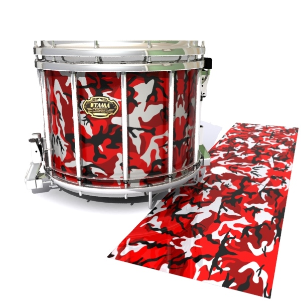 30a85be21fe0 Tama Marching Snare Drum Slip - Serious Red Traditional Camouflage (Red)